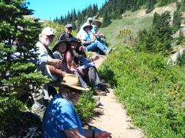 Guiding Committee members, family and friends enjoy a beautiful day at Hurricane Ridge, July 2013